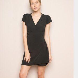 Brandy Melville Black Wrap Dress Basic